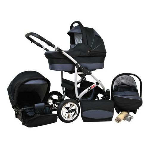 Sun Baby Wózek wielofunkcyjny Largo 3w1, szary (2010962850054)