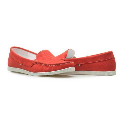 Best-but Mokasyny giorgio fabianni 655 czerwone/białe