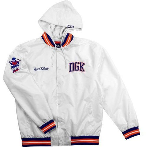 bluza DGK - Game Killer Custom Hooded Jacket White (WHITE) rozmiar: XL, kolor biały
