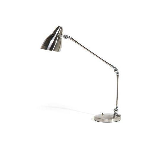 Beliani Lampa biurkowa metalowa srebrna patoka (4260580923045)
