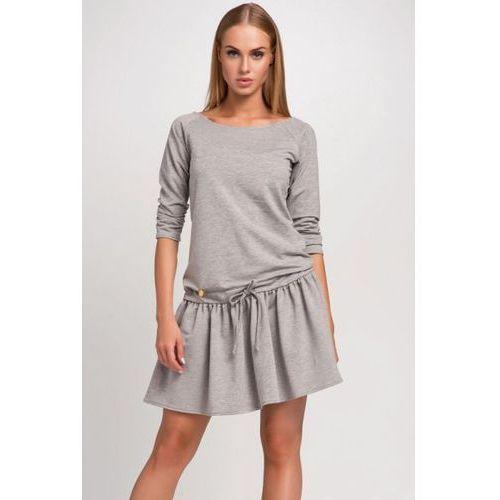 Sukienka Model M264 Grey Melange, kolor szary
