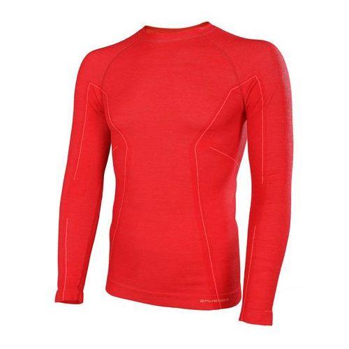 Koszulka męska Active Wool długi rękaw LS12820 Brubeck - Czerwony - Czerwony, kup u jednego z partnerów