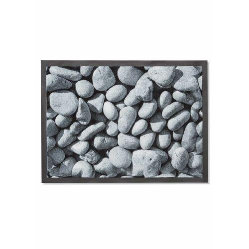 Wycieraczka z nadrukiem w kamienie szary marki Bonprix