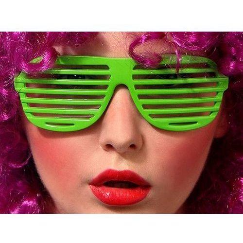 Twojestroje.pl Okulary disco żaluzje zielone (5901157440204)