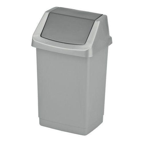 Curver Kosz na śmieci uchylny  click-it 15l - srebrny/grafitowy (3253921722347)