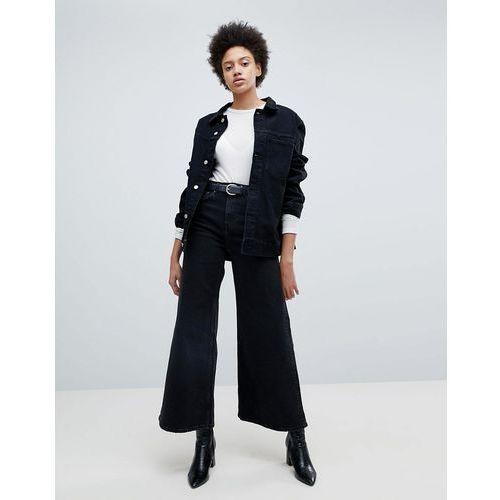 Weekday Ace HighWaist Wide Leg Jeans - Black, kolor czarny