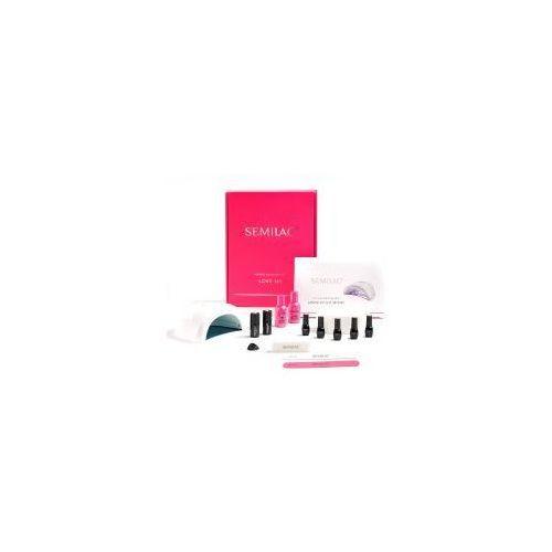 Semilac , zestaw do manicure love me, lampa led 24/48w (040, 043, 022, 026, 115)