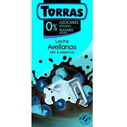 Czekolada mleczna z całymi orzechami laskowymi BC 75 TORRAS.. (8410342005625)