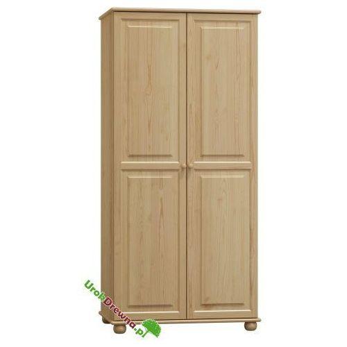 Szafa sosnowa 2 drzwiowa z podziałem 90 (nr kat. 66), 128