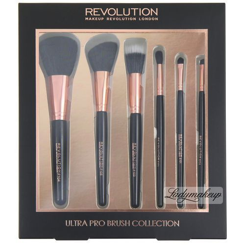 Makeup revolution - ultra pro brush collection - zestaw 6 pędzli do makijażu (5029066061294) - OKAZJE