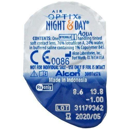 AIR OPTIX NIGHT & DAY AQUA 1szt -1 Soczewki miesięczne | DARMOWA DOSTAWA OD 150 ZŁ!