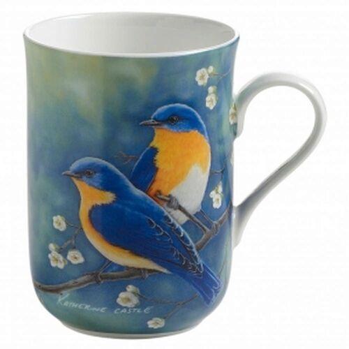 Maxwell & williams - birds of the world - kubek, błękitnik rudogardły