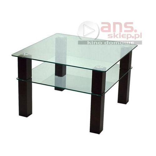 Szkłomal KWADRAT CAMPARI - Stolik szklany, 80x80 cm