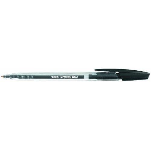 długopis automatyczny cristal clic jednorazowy, czarny marki Bic