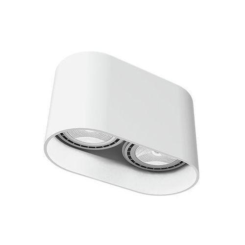 Nowodvorski Plafon oval 9241 lampa sufitowa oprawa spot 2x75w gu10 es111 biały