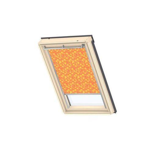 Roleta zaciemniająca dkl mk06 4568s pomarańczowa ze wzorem 78 x 118 cm marki Velux