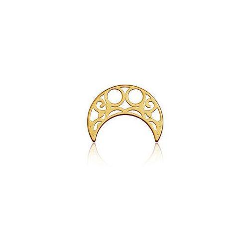 Blaszka celebrytka księżyc - ażurowy, złoto próby 585 marki 925.pl