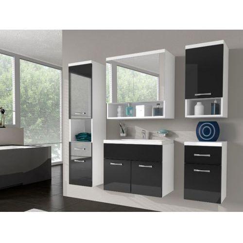 Komplet LUISA - meble łazienkowe - lakier czarny