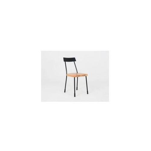Krzesło metalowe lena - czarny, naturalny marki Customform