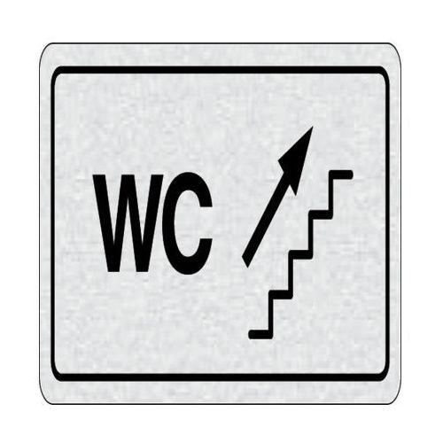 B2b partner Tabliczka na drzwi -wc na prawo, schodami na górę