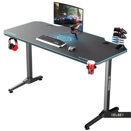 biurko gamingowe gamora niebieskie marki Selsey