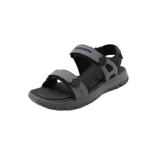 Skechers FLEX ADVANTAGE UPWELL Sandały trekkingowe black/grey, 51874