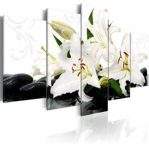 Obraz - lilie i kamienie zen marki Artgeist