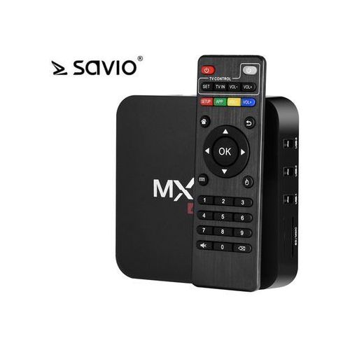 Savio tv box android 6.0,hdmi,4k,4xusb,wifi savtvb savtvbox-01 - odbiór w 2000 punktach - salony, paczkomaty, stacje orlen (5901986043706)