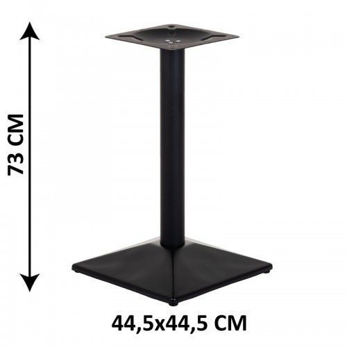 Podstawa stolika SH-4002-6/B, 44,5x44,5 cm (stelaż stolika), kolor czarny
