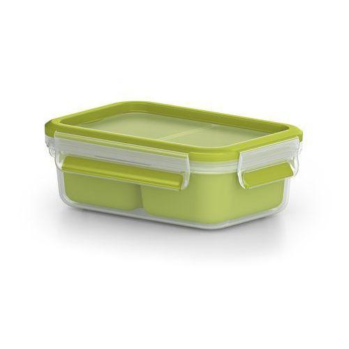 EMSA Clip & Go Box, pudełko spożywcze z tworzywa sztucznego, zielone, zielony, 16.3 x 11.3 x 5.8 cm, 518102