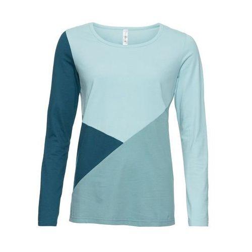 Shirt 2 w 1 ciemnoniebieski z nadrukiem marki Bonprix
