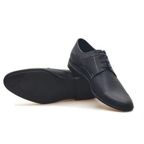 Pantofle Pan 949 Ł Granatowe lico