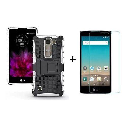Zestaw | Pancerna obudowa Perfect Armor Biała + Szkło ochronne Perfect Glass LG Spirit 4G LTE
