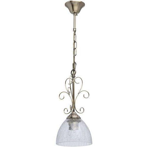 Zdobiona lampka wisząca do jadalni - antyczny mosiądz MW-LIGHT Classic (481012301)