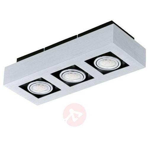 Oczko halogenowe Eglo Loke 91354 LED lampa sufitowa 3x5W GU10 aluminium/chrom (9002759913540)
