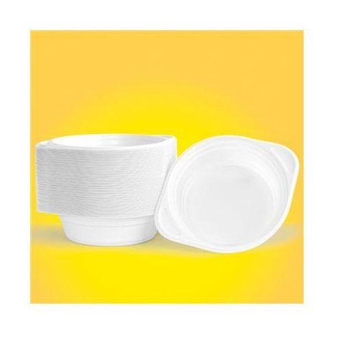 Flaczarka plastikowa OFFICE PRODUCTS, 500ml, śr. 16cm, 100 szt., biała (5901503668955)
