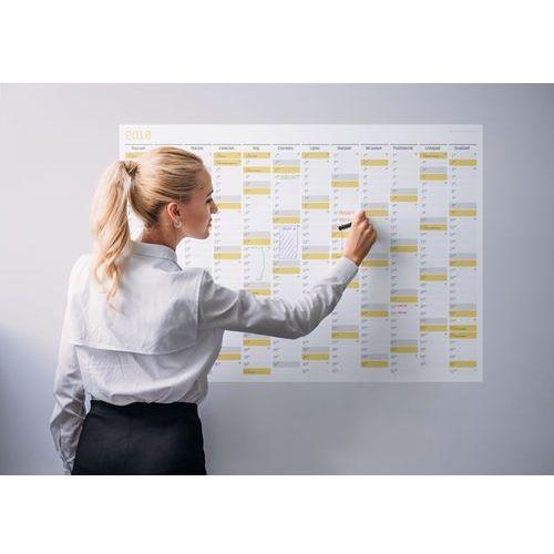 Grupavnm.pl Planer na ścianę 2018 papierowy suchościeralny 136x96 ~b0
