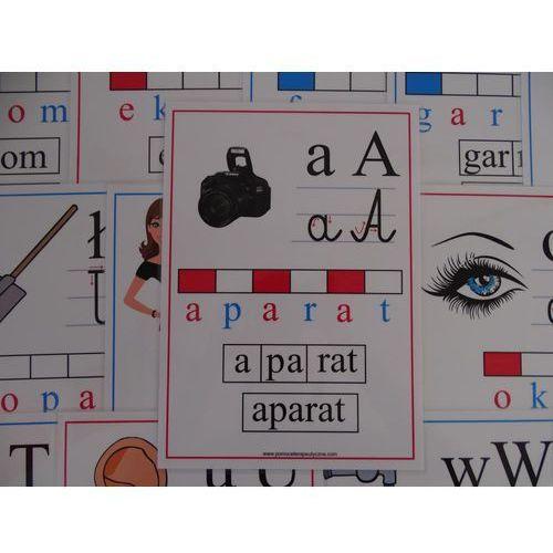 Bystra sowa Alfabet obrazkowo-słowny - karty edukacyjne wersja 3 z kierunkiem pisania liter
