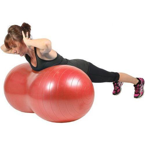 Msd Piłka gimnastyczna (rehabilitacyjna), orzeszek mambo max ab peanut ball czerwona 50x100 cm (z pompką) - 05-011103