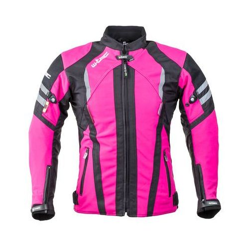 Damska kurtka motocyklowa typu softshell W-TEC Alenalla NF-2410, Czarno-różowy, L (8596084052070)