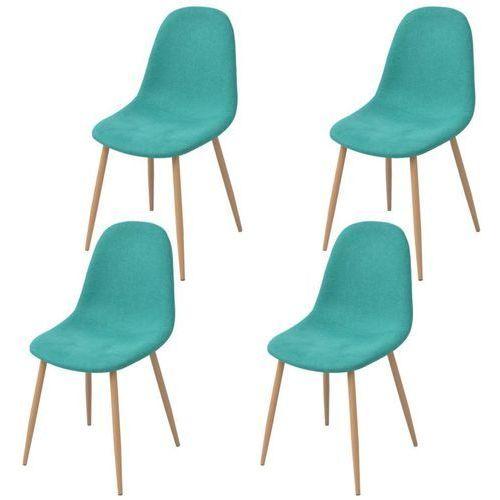 Krzesło do jadalni 4 szt., tapicerowane tkaniną, zieloną, kolor zielony