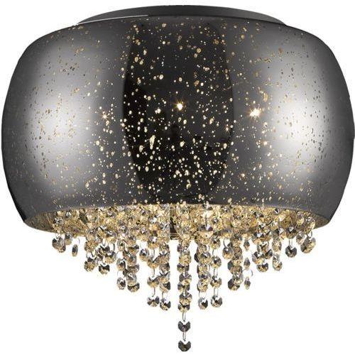 ZUMALINE VISTA LAMPA SUFITOWA LAMP 5*G9 MAX 42W SILVER GLASS SHADE WITH DOTSMETAL CHROME C0076-05K (SILVER), kolor Przezroczysty
