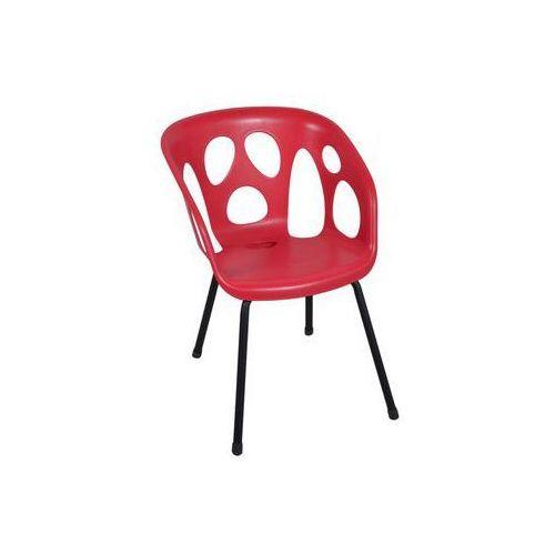 Ołer garden Krzesło ogrodowe ghost czerwone