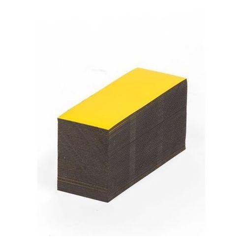 Magnetyczna tablica magazynowa, żółte, wys. x szer. 15x80 mm, opak. 100 szt. Zap