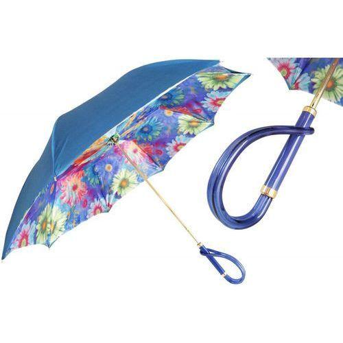 Parasol blue with colorful sunflowers, podwójny materiał, 189 35-3 a marki Pasotti