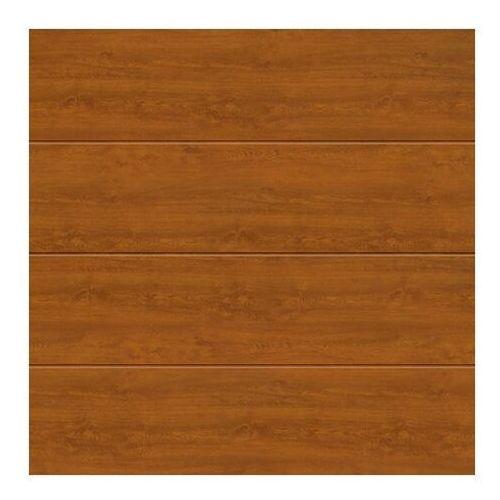 Brama garażowa segmentowa Hormann 2500 x 2125 mm złoty dąb L z napędem Isomatic, 4014723