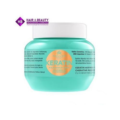 kjmn maseczka z keratyną (keratin hair mask with keratin and milk protein) 275 ml marki Kallos