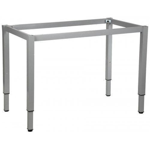 Stelaż ramowy regulowany na wysokość, 156x66 cm - noga o przekroju kwadratowym. Do stołu lub biurka.