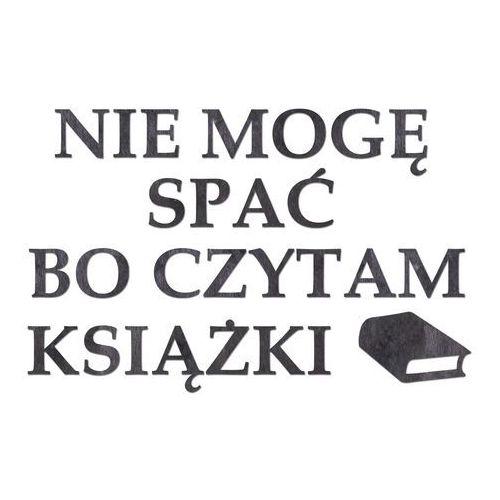 Congee.pl Dekoracja drewniana napis na ścianę nie mogę spać bo czytam książki - 4 mm