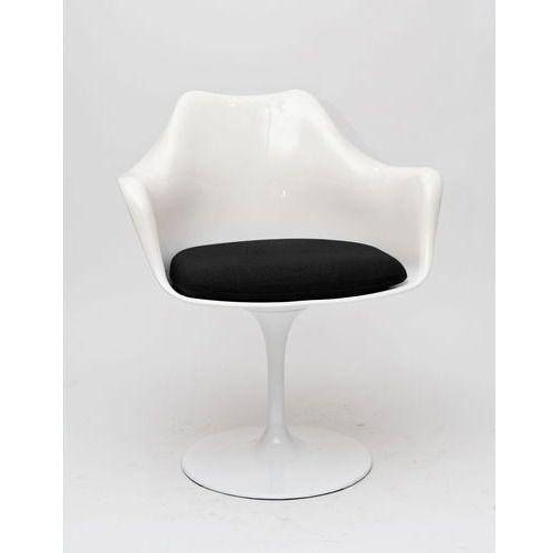Krzesło TulAr białe/czarna poduszka (5902385703000)